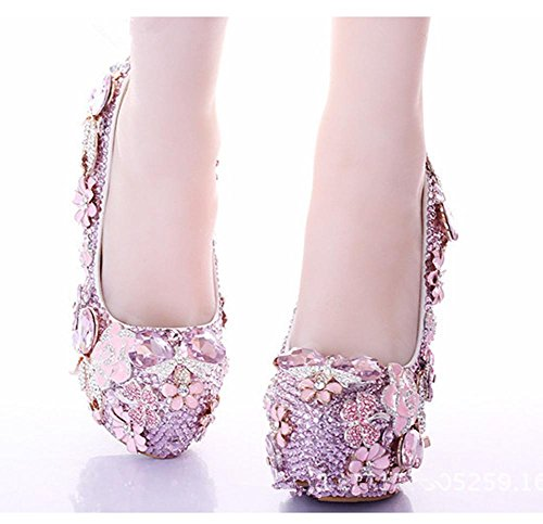 YMXJB Mode incrusté de cristal talons chaussures de demoiselle d'honneur mariage chaussures