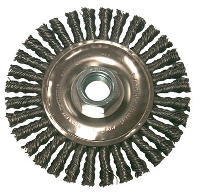 Stringer Bead Wheel Brushes, 4 in D x 3/6 in W, 0.02 in, Carbon Steel (28 Pack)