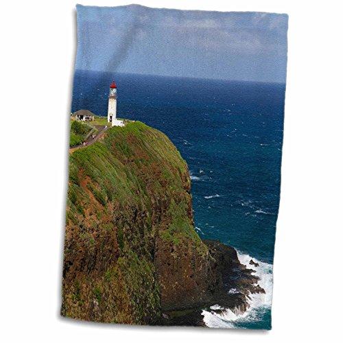 3dRose Danita Delimont - Lighthouses - Kilauea Lighthouse and Point, Kauai, Hawaii, USA - US12 DFR0142 - David R. Frazier - 15x22 Hand Towel (twl_143915_1)