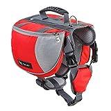 Pet Backpack Dog Backpack Carrier Large Adjustable Dog Saddle Bags Lightweight for Outdoor Hiking Camping Training - Hmjunboys (L, Red)