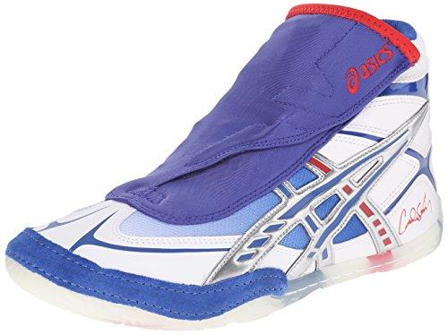 Asics Mens Cael Wrestling Shoe Bianco / Blu / Rosso