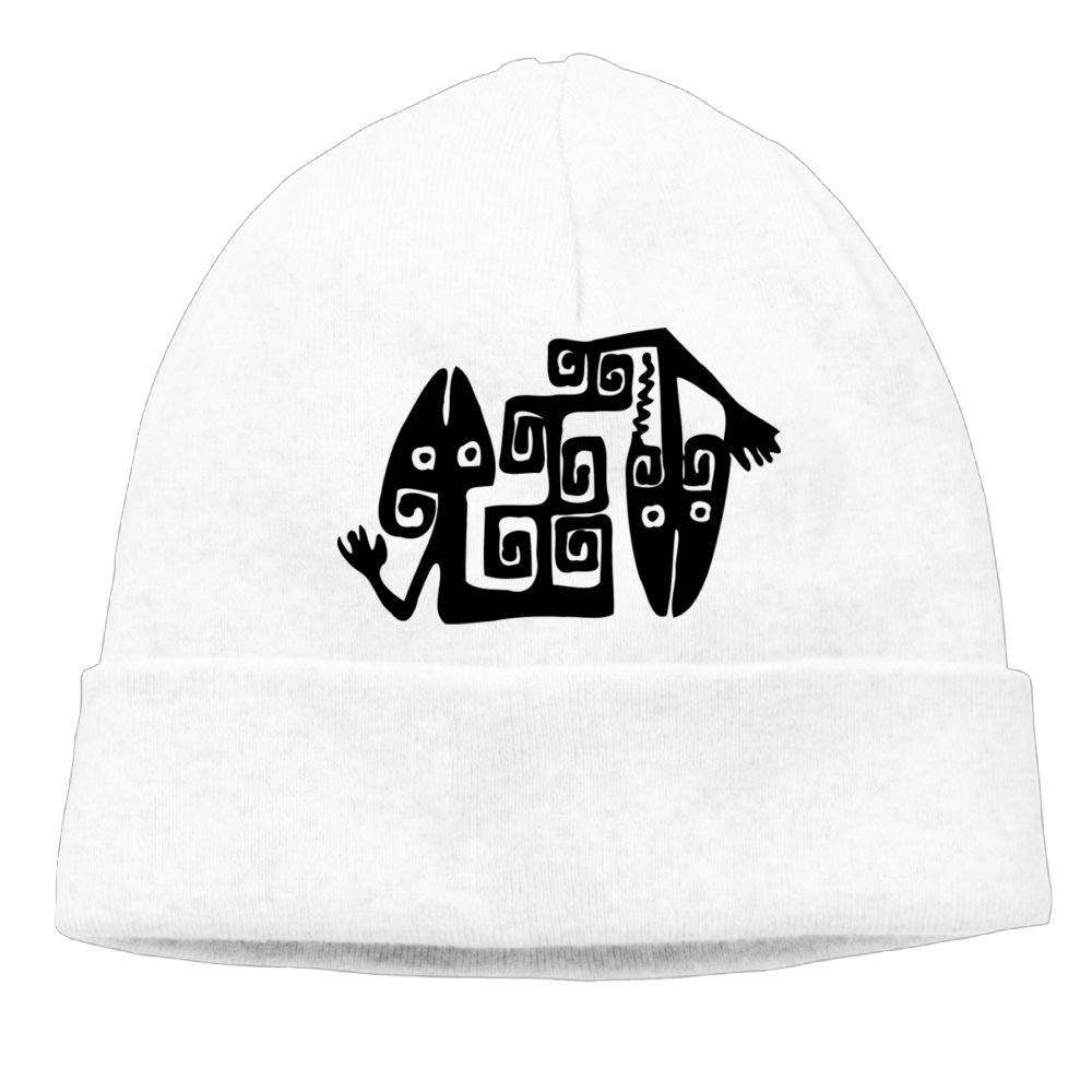 Oopp Jfhg Funny Black Lizard Beanie Knit Hat Ski Cap Mens