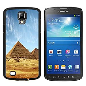 YiPhone /// Prima de resorte delgada de la cubierta del caso de Shell Armor - Arquitectura antigua pirámides de Giza - Samsung Galaxy S4 Active i9295