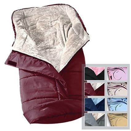 Infantastic - Saco portabebé con forro polar – aprox. 46 x 96 cm – color burdeos-beis