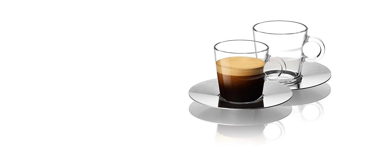 Nespresso Set Glass Collection Espresso Cups & Saucers,A & P Cahen Design,New