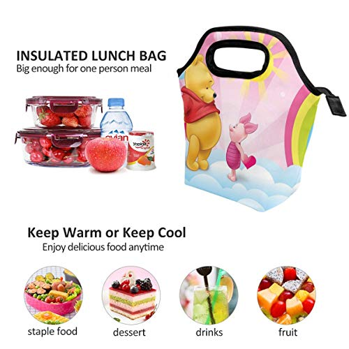Lunch Bag Winnie Pooh Sunshine Insulated Lunch Tote Boxes Cooler Bag For Adults Men Women Kids Boys Nurses Teens