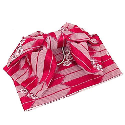 湿地メンテナンス既婚(ノーブランド品) 作り帯 浴衣 付帯 結び帯 レディース 赤
