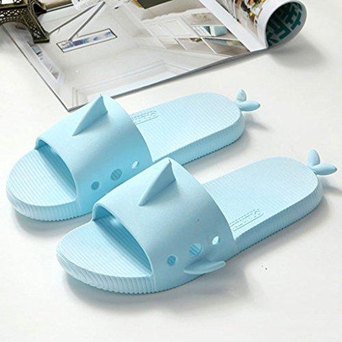 Antiscivolo Forma Pesce Bagno Blu colore Di Casa Dimensioni uk6 Carino Donna Interno cn39 Eu39 Estate Blu Pantofole 0 Sandali znqdRHCwR