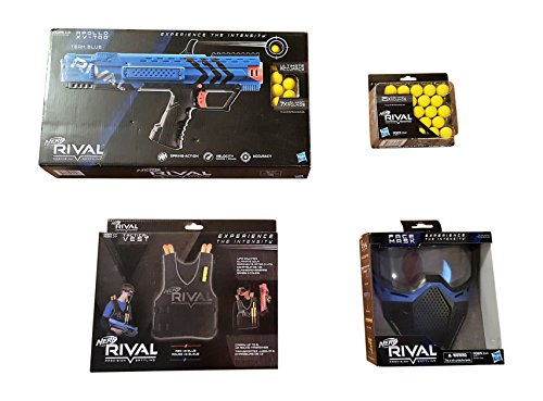 Nerf Rival Apollo-Vest-Mask-Pellet Team Blue Bundle