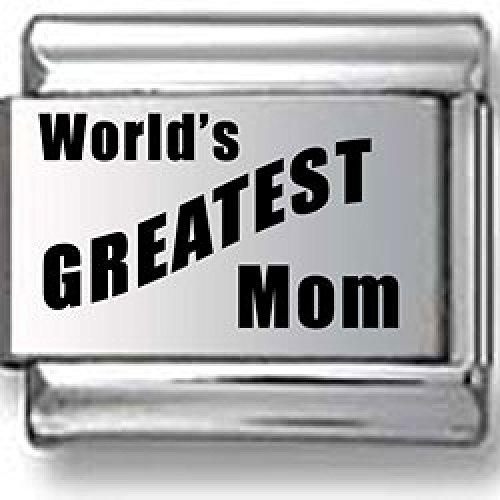 World8217;s Greatest Mom Laser Italian Charm