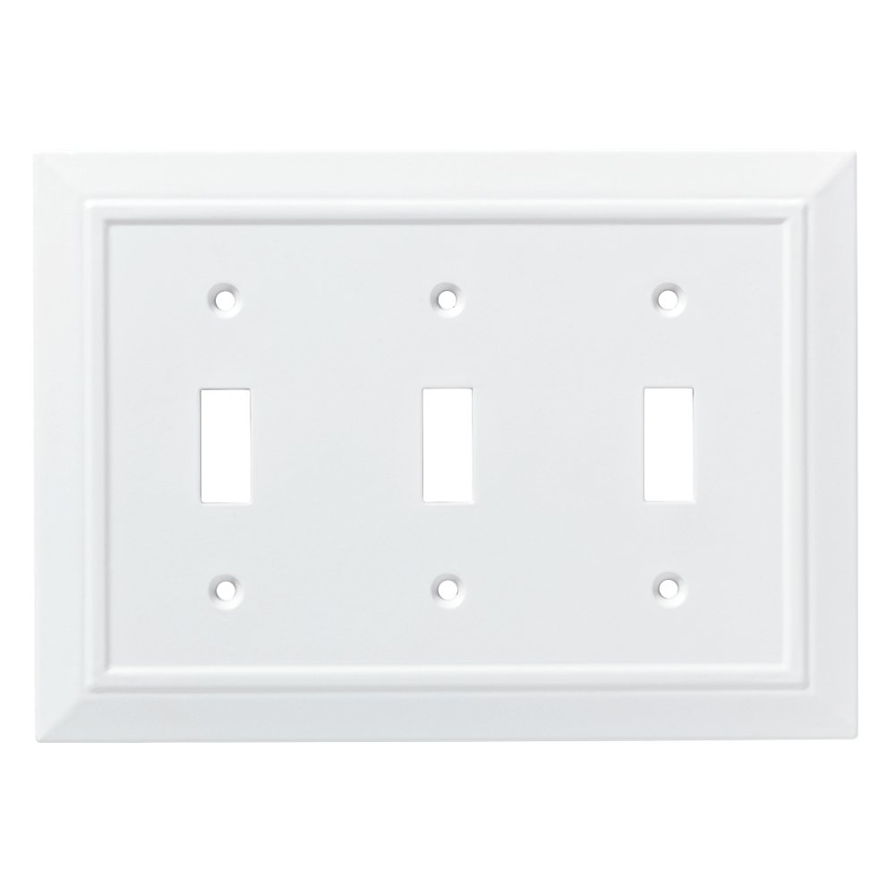 Franklin Brass W35249-PW-C Classic Architecture Triple Switch Wall Plate/Switch Plate/Cover, White by Franklin Brass