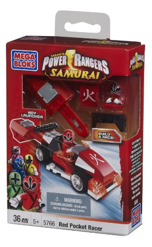 Red Power Package (Mega Bloks Power Rangers Red Pocket Racer)
