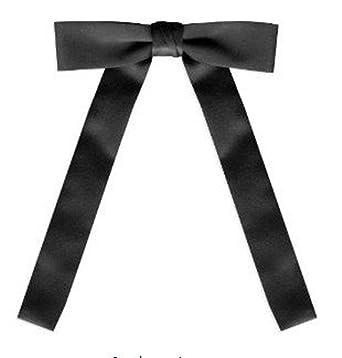 Top Tie Black Satin Western String Bow Tie by Top Tie