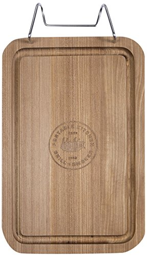 PK Grills PKUA-CB-TW-X Durable Teak Cutting Board with Stainless Steel Hanger (Grill Teak)