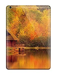 Awesome Design House On A Yellow Lake Hard Case Cover For Ipad Air