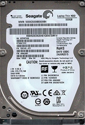 /071/F//W Seagate ST500LT012/P//N 0004lim1/su 500/GB 1dg142/