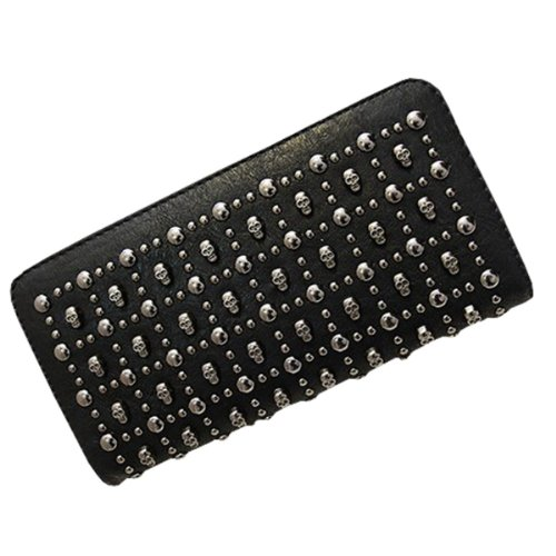Women's Skull Pu Leather Handbag Evening Clutch Bag Purse Wallet Phone Pocket