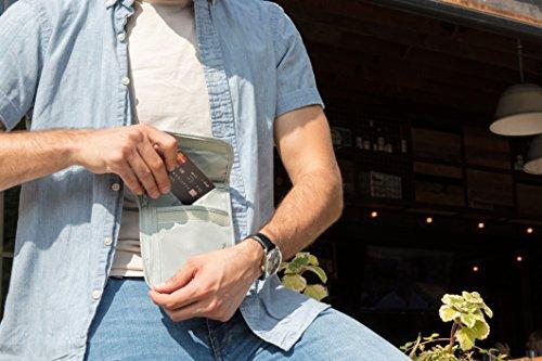 51g7aG16vWL - Travelon RFID Blocking Undergarment Neck Pouch, Gray