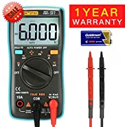 Digital Multimeter,Acekool Auto Ranging Multimeter 6000 Counts Multi Tester,Measuring AC/DC Voltage,Current,Frequency,Resistance,Capacitance,Diode and Continuity Test HZ with Backlight LCD Display