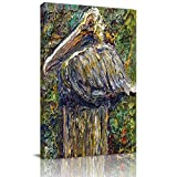 Home Decor Canvas Wall Art Painting, Pelican Birds Prints, Morden Artwork Framed for Living Room Wall Decorations Ready to Hang 12'x18'