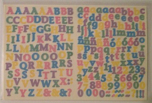 Mini ABC/123 Stickers: Pastel ()