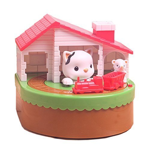 The Cat and The Mouse Train Coin Money Box Piggy Bank Collecting Saving Money - Bank Kids Train
