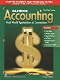 img - for Glencoe Accounting: 1st Year Course, Chapter Reviews and Working Papers 1-28: 4th (fourth) edition book / textbook / text book
