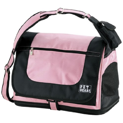 Pet Gear Messenger Bag for Cats and Small Dogs, Pet Carrier, Crystal Pink, My Pet Supplies