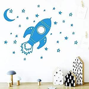Ajcwhml Papel Pintado de Nave Espacial Colorido Papel Pintado de ...