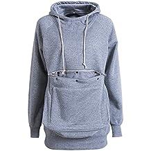 VincentDeep Unisex Long Sleeve Big Kangaroo Pet Pouch Hoodie Pet Cat Small Dog Holder Sweatshirt
