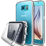 Galaxy S6 Case - Ringke FUSION ***All New Dust Free Cap & Drop Protection*** [FREE Front & Back Films][CRYSTAL VIEW] Premium Crystal Clear Back Shock Absorption Bumper Hard Case with Free HD Screen Film for Samsung Galaxy S6 - Eco/DIY Package