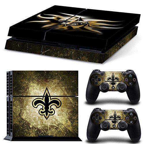 Controller Saints New Orleans (FriendlyTomato PS4 Console and DualShock 4 Controller Skin Set - Football NFL - PlayStation 4 Vinyl)