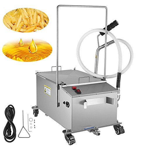 VEVOR Mobile Fryer Filter 116LB.Capacity Oil Filtration System 300W Fryer Filter Frying Oil Filtering System 110v/60Hz (Oil Capacity 58L/15.32 Gallon) ()