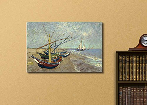 Fishing Boats on The Beach at Les Saintes Maries de la Mer by Vincent Van Gogh Oil Painting Reproduction