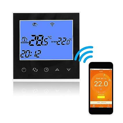 Termostato Programable Wifi Domybest Termóstato Digital LCD de Pantalla Táctil, Controlador de Temperatura ambiente y