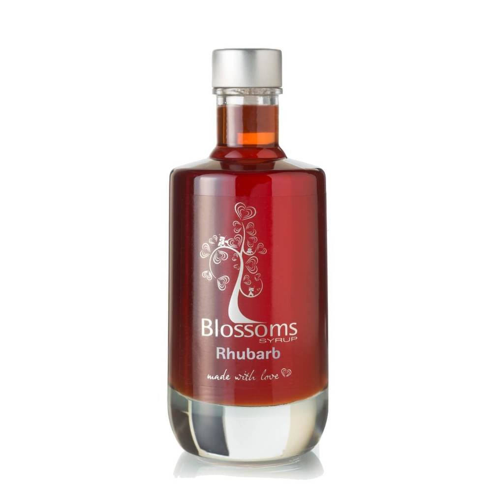 Blossoms Syrup Rhubarb Gourmet Cocktail Cordial Dessert Syrup 100% Natural Fruit 100ml (10cl)