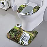 Auraisehome Sit Toilet Cover Wall for Living Room and droom Girls DoRoom Accessories Home with High Absorbency