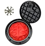 Bieroog 6 Inch Hole Diameter Deck Plate Kit, Deck Hatch with Cat Bag for Kayak Boat Fishing Rigging, Black (Contain Red Pocket)