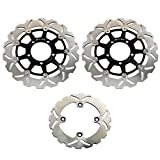 TARAZON Front and Rear Brake Disc Rotor for Kawasaki Ninja ZX10R 2004 2005 2006 2007