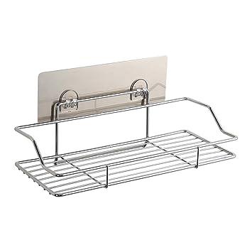 Amazon.com: Booluee - Estante de ducha con adhesivo para no ...