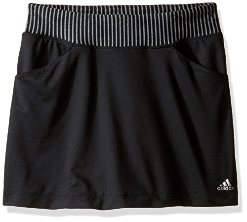 adidas Golf Girls Range Wear Skort, Black, Small (Golf Clothes For Girls)