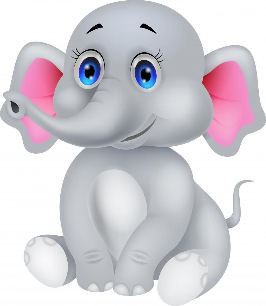 amazon com cute baby elephant cartoon wall decal by wallmonkeys
