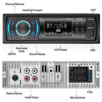 Boss Audio 616uab Car Stereo, Single Din, Bluetooth, Usbmp3wma Amfm Radio 2