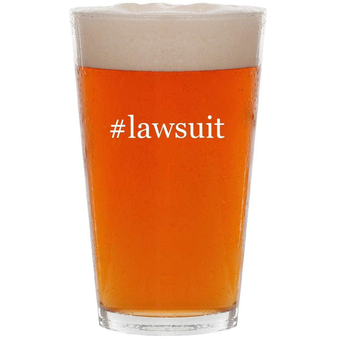 #lawsuit - 16oz Hashtag Pint Beer Glass