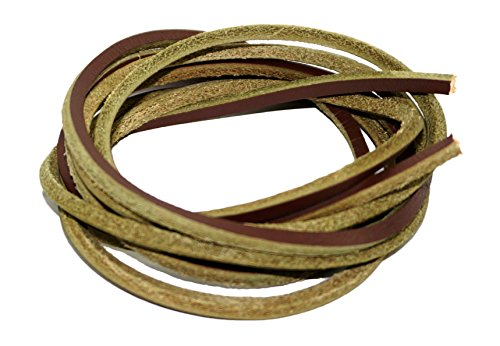 Tie Boat Shoes (Genuine Leather Square Shoelaces 3mm Wide Solid Colors 160cm Lengths For Work Boots / Boat Shoes Brown Mixed)
