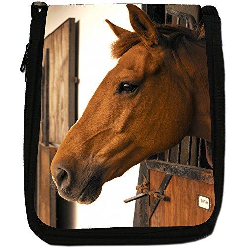 Shoulder Stable Size Black Bag Beautiful Horse Brown Medium Elegant Canvas Horses xp8wZvYwq