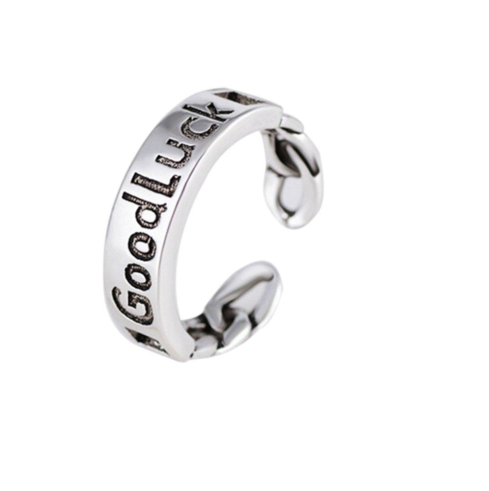 Treestar 1PCS Fashion Good Luck donna anelli argento scintillante Art Rings Lady wedding gioielli per ragazze decorazione regalo anelli