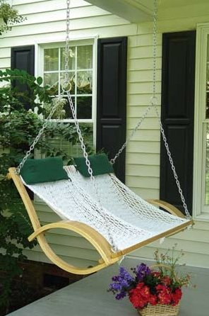 Porch Island Swing (Pawleys Island Double Bent Arm Rope Porch Swing)