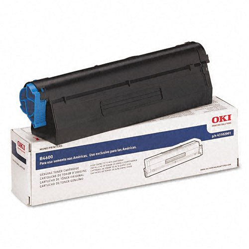 (Oki 43502001 B4600 Series Type 9 Black Toner Cartridge)