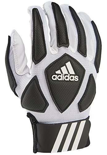 adidas Scorch Destroy 2 Lineman Gloves Full Finger, White/Black, Large